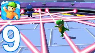 Stumble Guys - Gameplay Walkthrough Part 9 - New Map: Laser Tracer (iOS, Android) screenshot 4