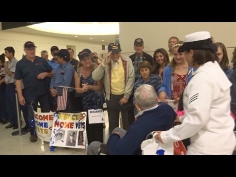 Honor Flight Chicago - September 30, 2015 - Midway Airport