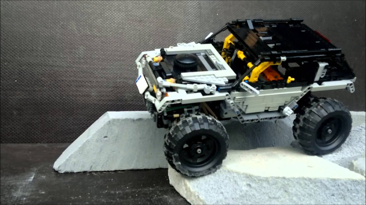 lego technic offroad crawler 4wd youtube. Black Bedroom Furniture Sets. Home Design Ideas