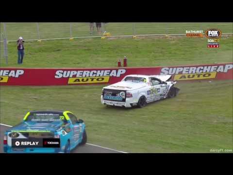 V8 Ute Racing Series 2016. Race 2 Mount Panorama Circuit. Gerard McLeod Hard Crash