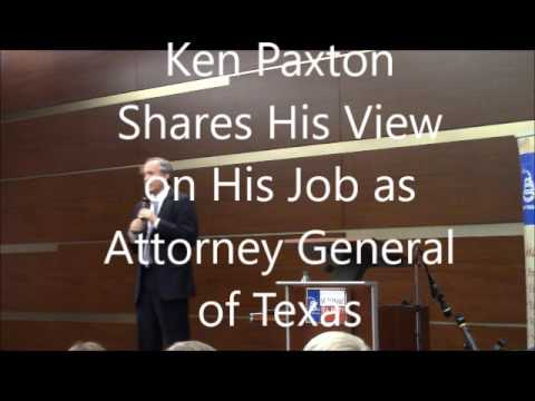 Ken Paxton Speaks to the North East Tarrant Tea Party