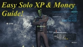 Payday 2 EASY XP, money & weapon mods - | Solo farming guide for PS3 |