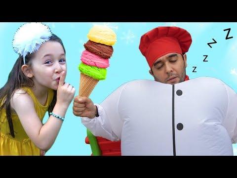 ÖYKÜ ŞİŞMAN AŞÇIDAN DONDURMA ALDI - Giant Cook and İce Cream