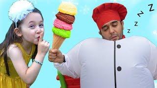 ÖYKÜ ŞİŞMAN AŞÇININ DONDURMASINI ALDI - Giant Cook and İce Cream
