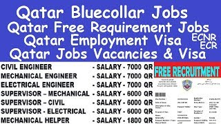Qatar Bluecollar Jobs l Qatar Cleaning Jobs Salary l Qatar Employment Visa l Qatar Free Requirement