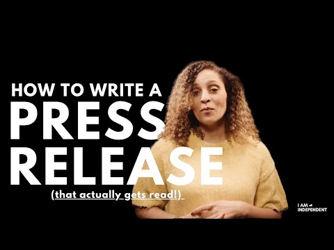 IAIMA | Independent Artist Tips | How to write a Press Releases