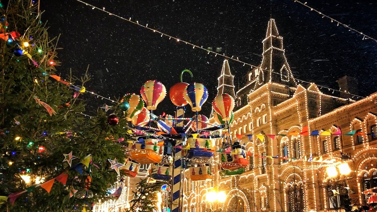 christmas moscow the red square gum youtube