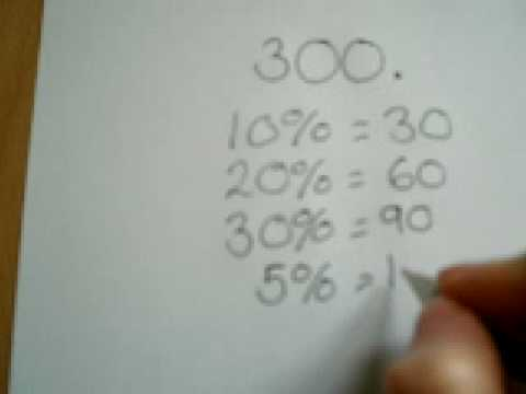 How To Work Out Basic Percentages