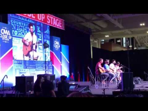 Jake Owen perform American country love song at cmafest xfinity fan fair X 2017 CMT close up stage