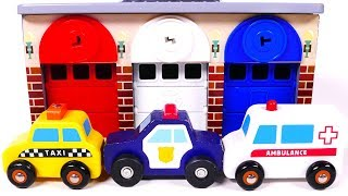 Learn Colors with Garage Parking Playset for Children and Toy Car Vehicles for Kids