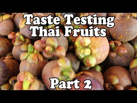 Taste Testing Thai Fruits at a Market in Thailand, Part 2. Exotic Fruit Shopping in Thailand Vlog