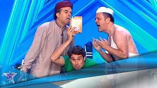 ¡Choque de CULTURAS! HUMOR y RISAS con CLOWNIC  | Audiciones 2 | Got Talent España 5 (2019)
