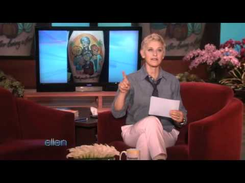 Ellen Has More Bad Paid-For Tattoos!