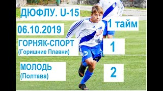 U-15. Горняк-Спорт (Горишние Плавни) - Молодь (Полтава) - 1:2. 1 тайм