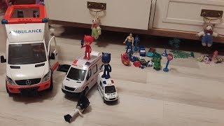 Ambulans arabası polis arabasına çarpıyor ambulans arabasında Romeo var, Pijamaskeliler iş başında!