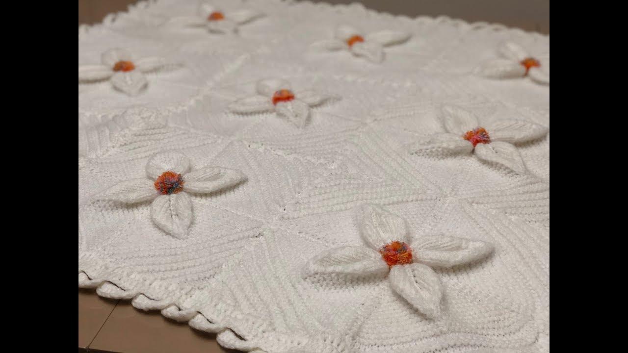 Anlatımlı Yapraklı Bebek Battaniyesi