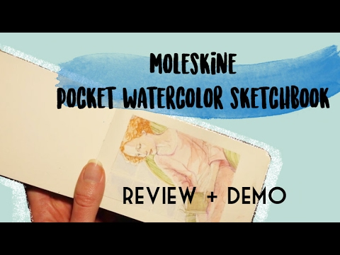 Moleskine watercolor sketchbook review & painting demo (ITA sub ENG)
