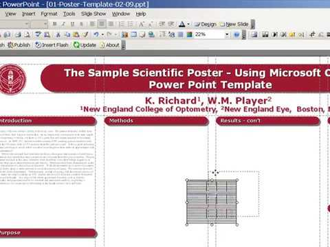 Poster Design with PowerPoint Template - YouTube - how to do a poster in powerpoint