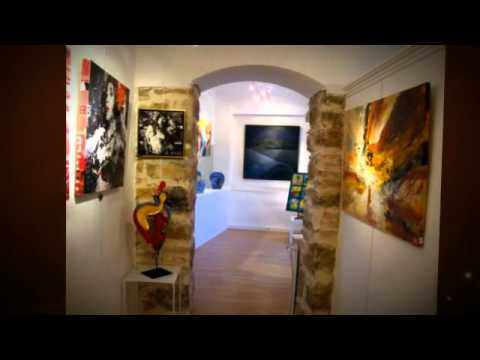 Exhibition Cannes, France April 2013 - living abstract paintings, by Dan Bunea