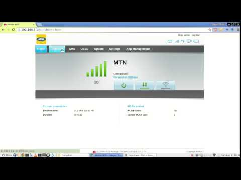 Huawei Mobile WiFi E5573 web interface - YouTube