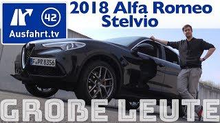 Alfa Romeo Stelvio für große Personen? Ausfahrt.tv hilft.