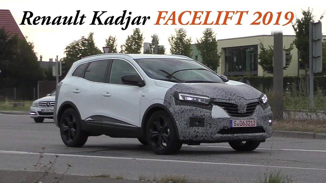 erlk nig renault kadjar facelift 2019 in schwarz wei. Black Bedroom Furniture Sets. Home Design Ideas