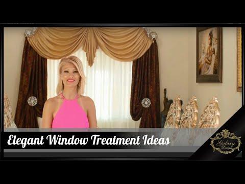 Elegant Window Treatments Ideas   Beautiful Homes   Custom Drapes   Galaxy Design Video #215