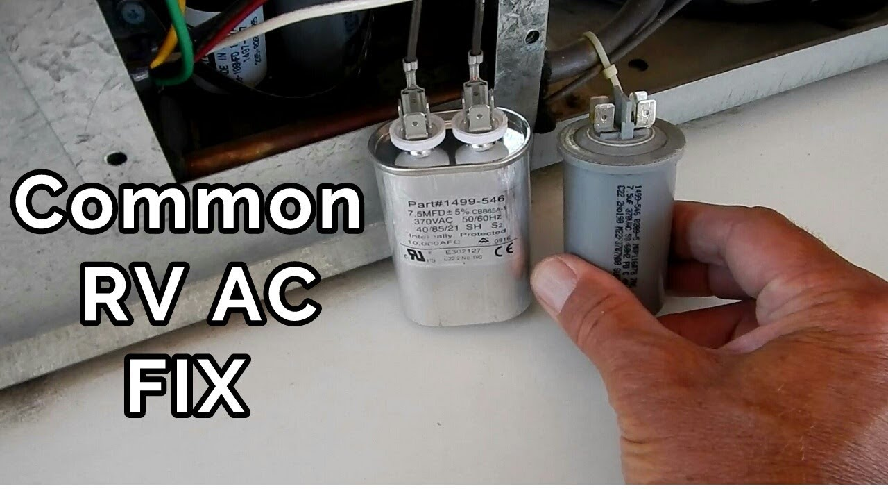 Coleman Air Conditioner Capacitor Wiring Free Diagram For You Sh How To Easily Fix Your Rv Youtube Rh Com Condenser Fan Motor