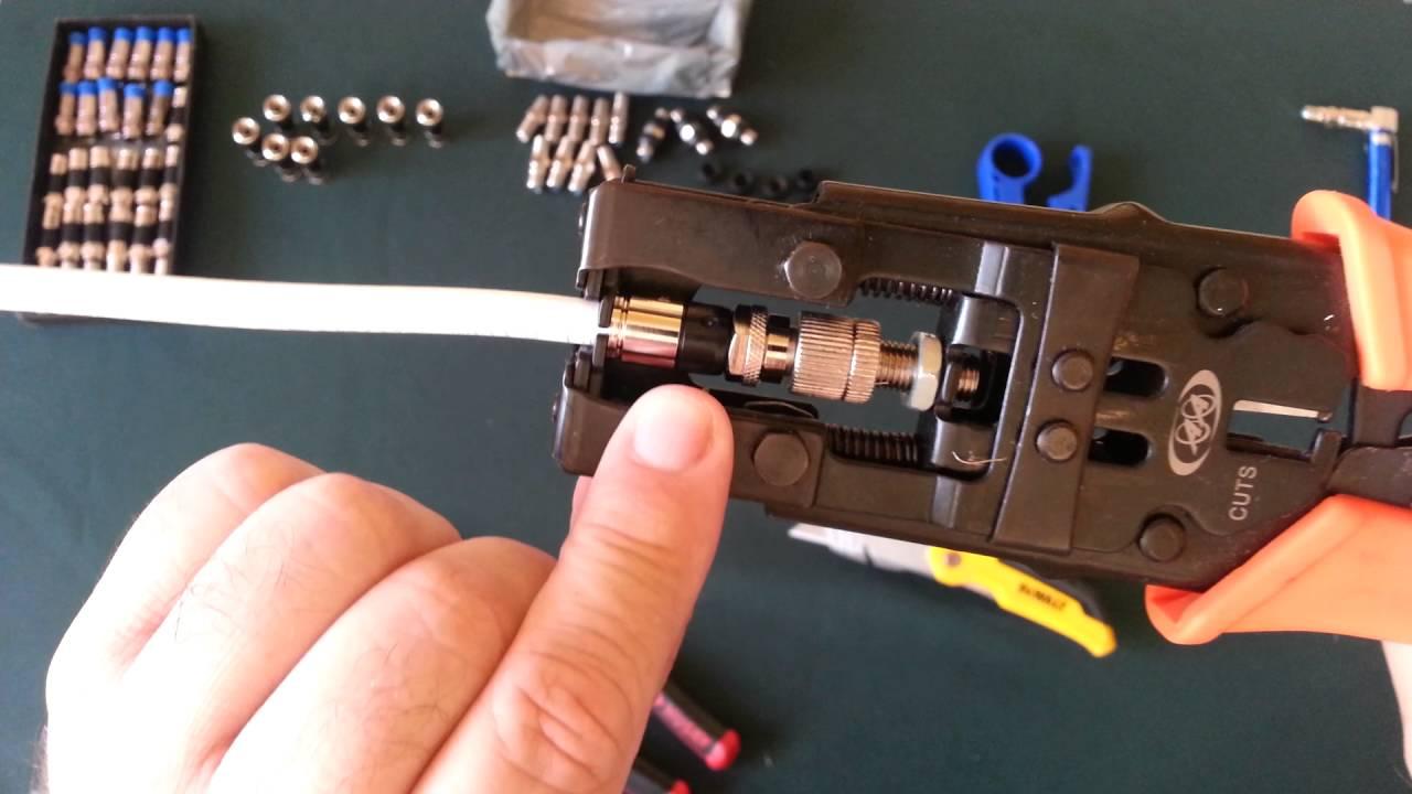 como instalar conectores a un cable coaxial para tv y. Black Bedroom Furniture Sets. Home Design Ideas