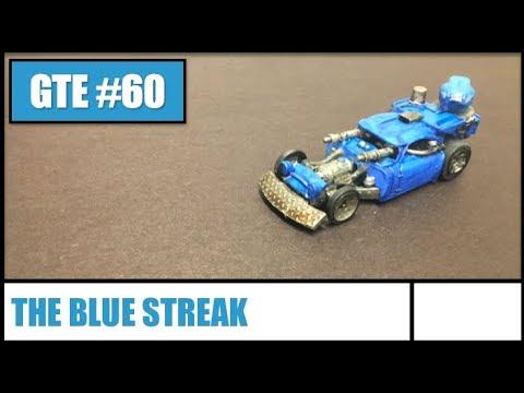GTE 060 -- The Blue Streak for Gaslands Combat Vehicle Game