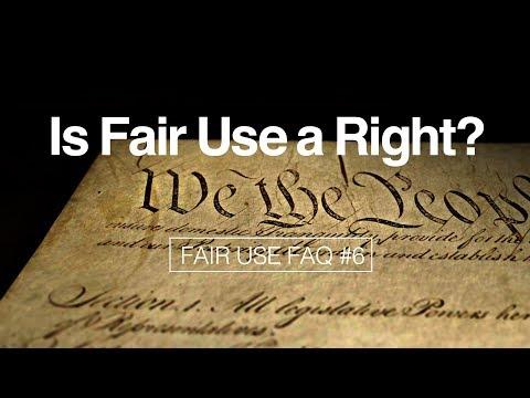 Is Fair Use a Right? (Fair Use FAQ #6)