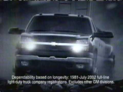 2003 Chevy Silverado Like a Rock Commercial