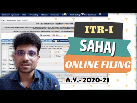 How to file Income tax return online  ITR1 For AY 2020-21
