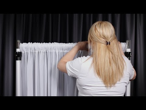 How to Set Up a Portable Pipe and Drape Backdrop