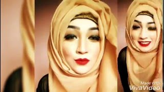 side messy hijab style