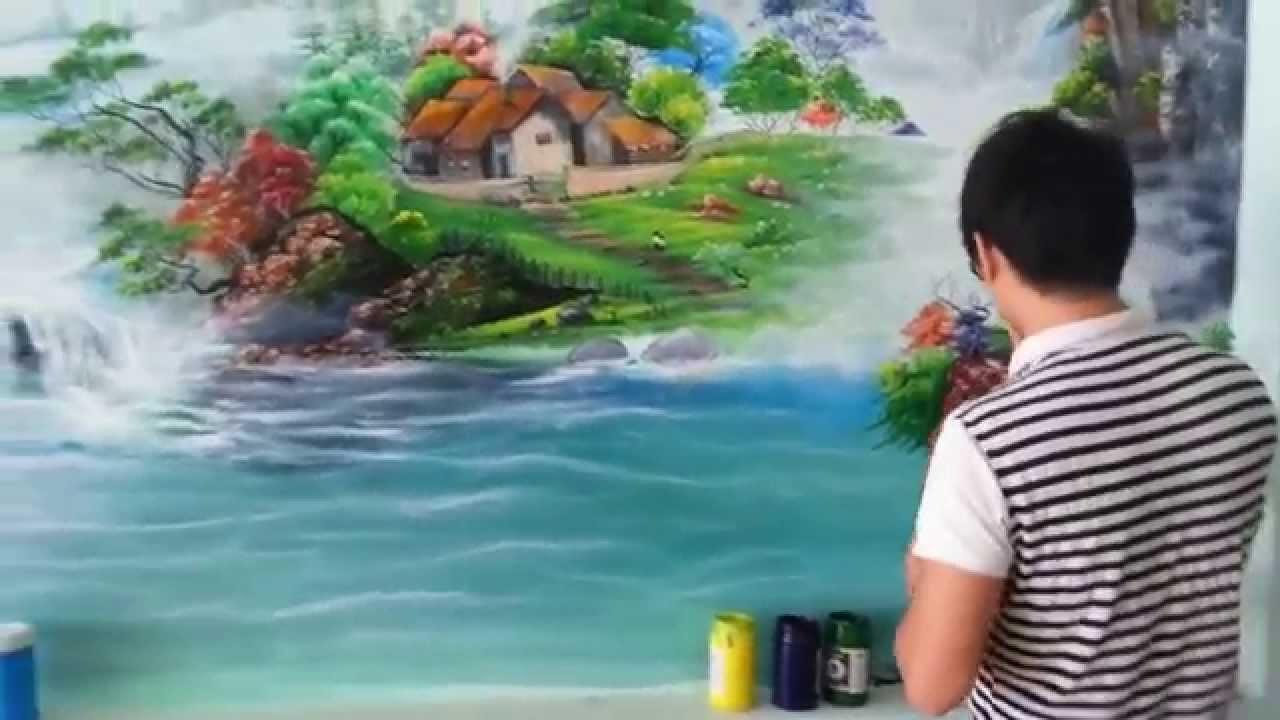 [0906.700.004] Vẽ Tranh Tường Phong Cảnh Tại Biên Hòa