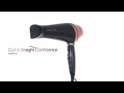 Remington  Curl & Straight Confidence Hårfön D5706 - How To Video