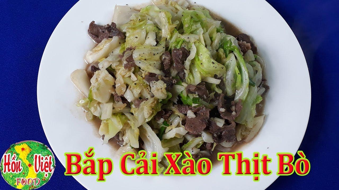 ✅ Bí Quyết Đơn Giản Để Làm Bắp Cải Xào Thịt Bò Thơm Ngon Nhất   Hồn Việt Food