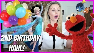 2ND BIRTHDAY HAUL Frozen toys, Elsa, Anna, Elmo, Baby gap, barbie, Finding Dory, Disney and more!