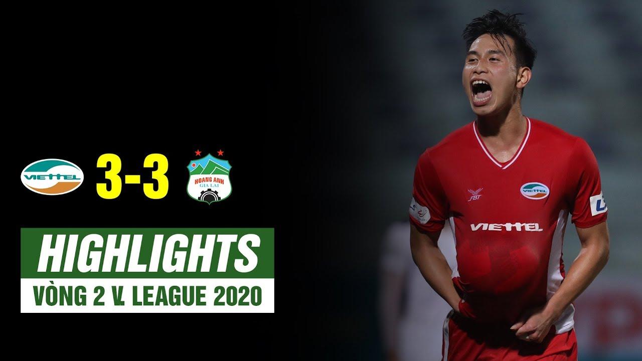 Highlights Viettel 3-3 HAGL | HAGL lỡ ngôi đầu bảng sau trận hòa điên rồ trước Viettel