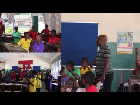 Visiting a private school in Accra, Ghana