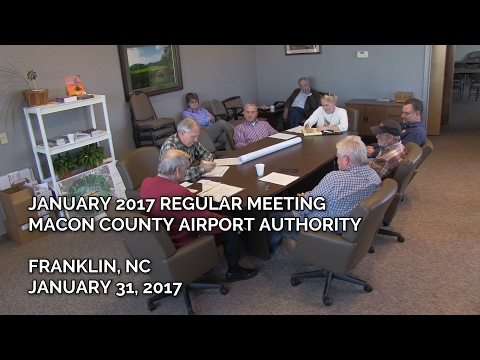 Jan 2017 Macon Co Airport Authority Meeting