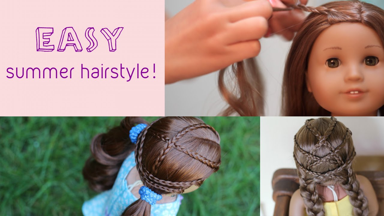 Easy Summer Hairstyle for AG Dolls! - YouTube