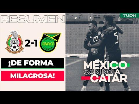 Resumen y goles   México 2-1 Jamaica   Eliminatoria - Catar 2022   TUDN