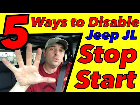 5 ways to Disable Stop start on the Jeep JL Wrangler (ESS)