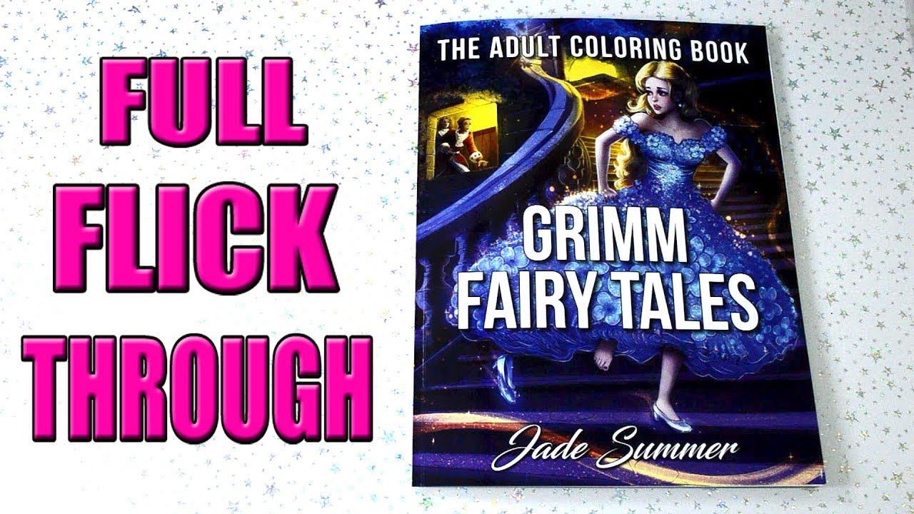 Grimm Fairy Tales Coloring Book Flip Through
