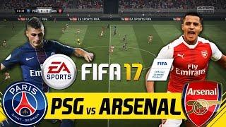 FIFA 17 FULL GAMEPLAY - PSG VS ARSENAL UEFA CHAMPIONS LEAGUE