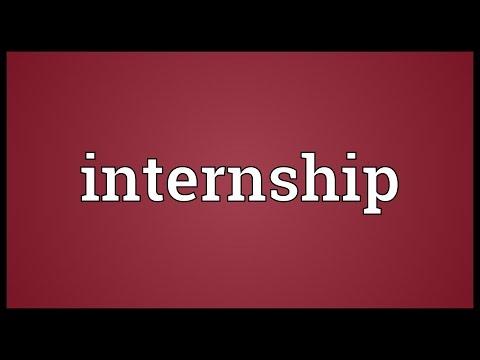 Internship Meaning