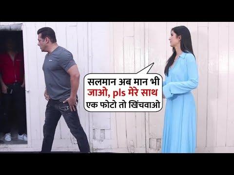 Salman Khan Don&39;t Interest to Take Picture With Katrina Kaif at Mehboob Studio  Bharat Promotion