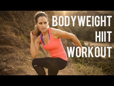 25 Minute Bodyweight HIIT Workout--No Equipment Full Body Interval Training